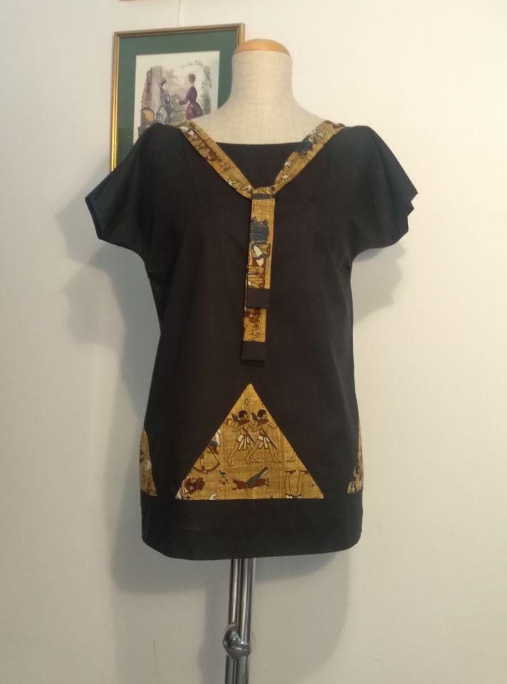 Moja bluzka na lata 1920 w stylu egipskim