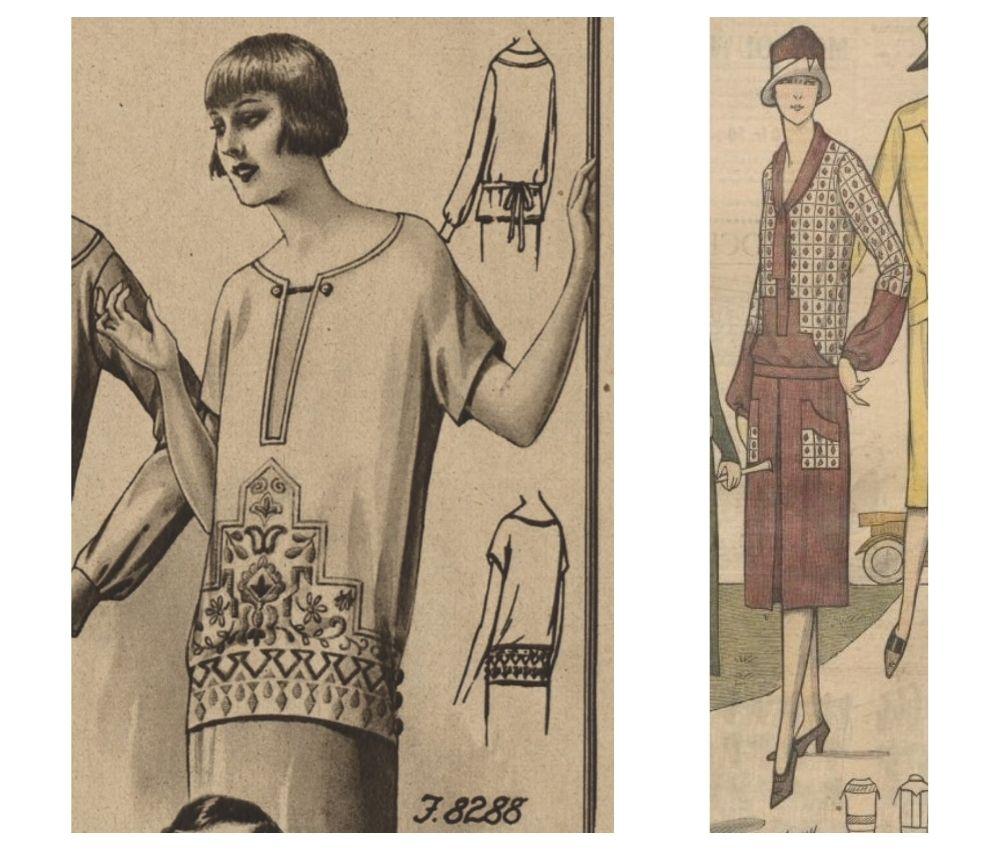 Bluzka i sukienka, lata 1920.