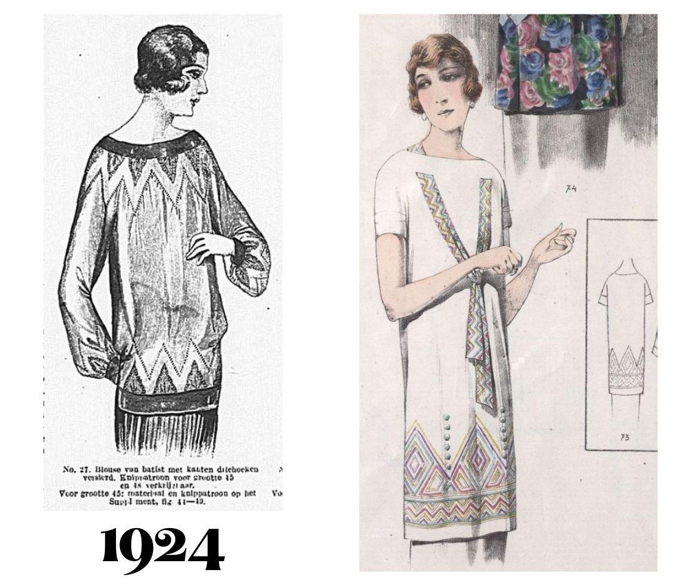 Dwie bluzki z 1924 roku