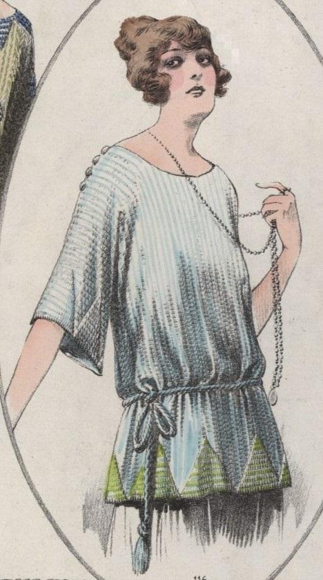 1922 sweter z trójkątami