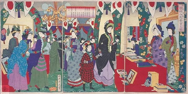 Toyohara Chikanobu rysunek