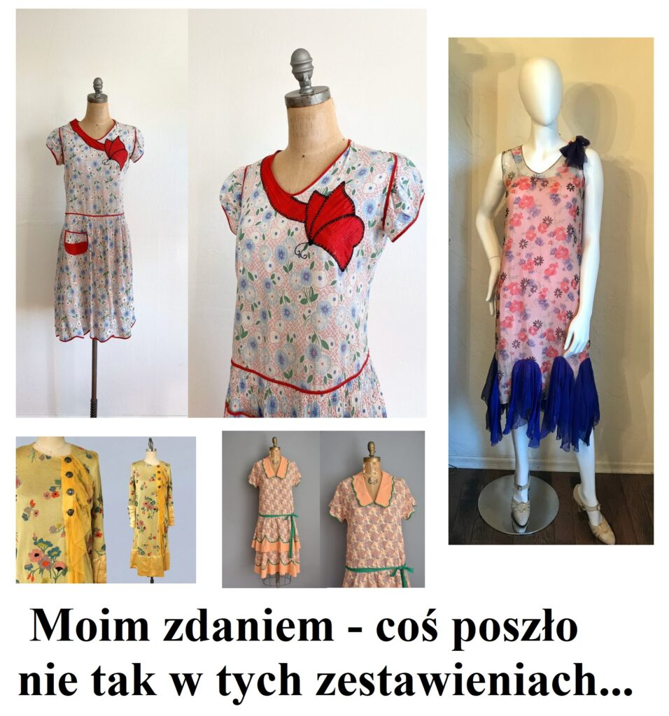 Koszmarki ubraniowe Art Deco