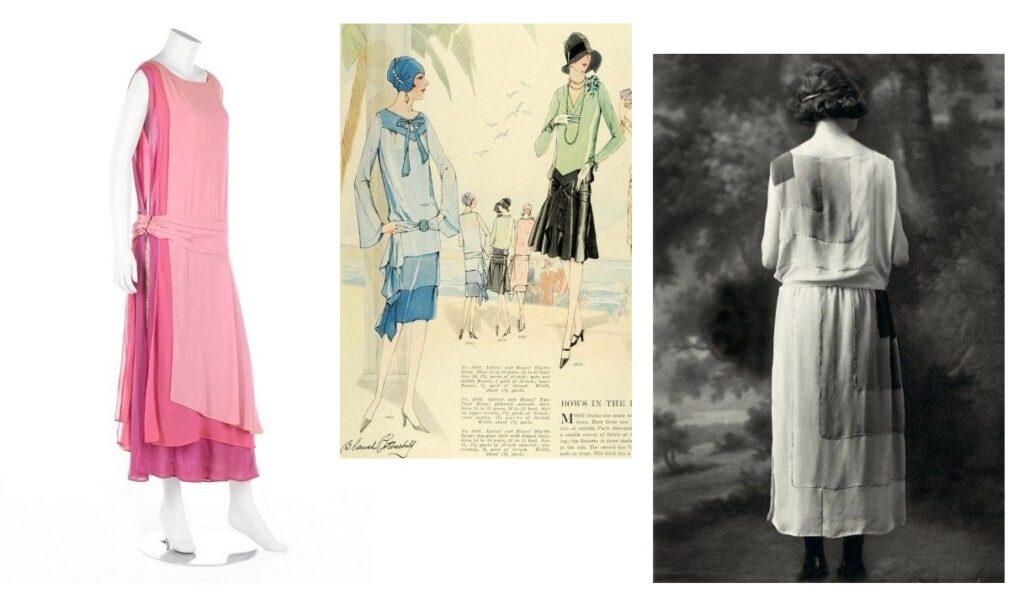 Efekt ombre w sukniach Art Deco