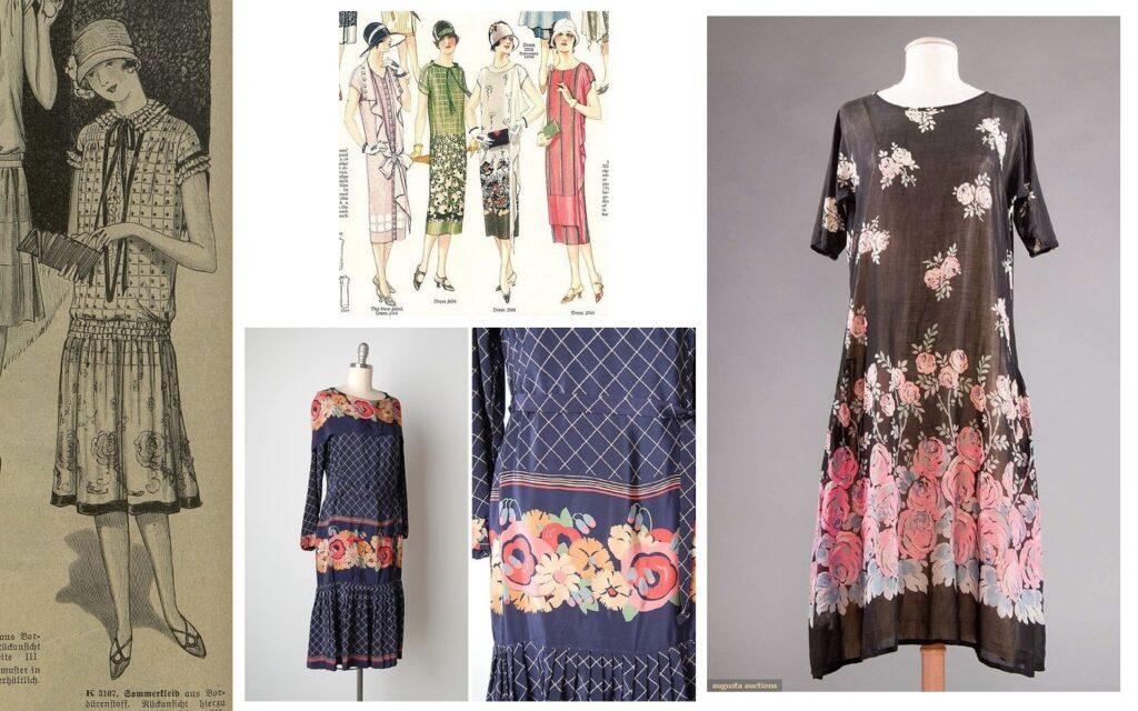 Lata 1920. - suknie z chust i szali