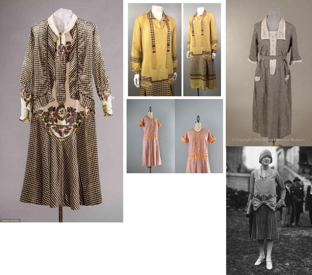Sukienki  Art Deco w kratkę