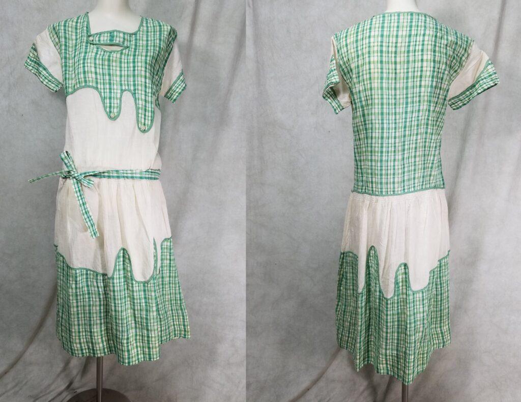 Piękna suknią w kratkę