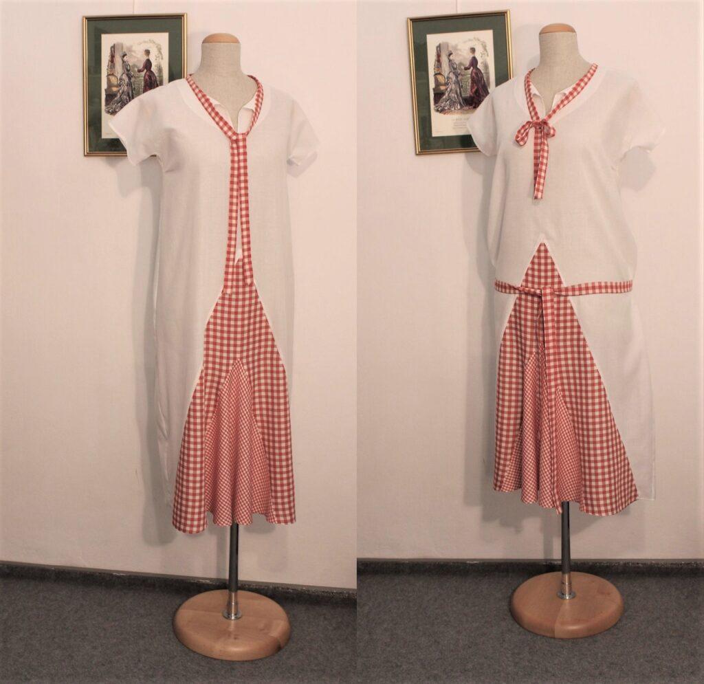 Sukienka reko z lat 1920. uszyta przeze mnie