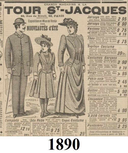 1890 modnie ubrana para