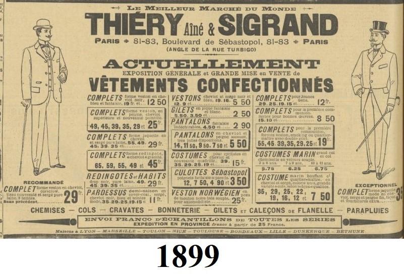 1899 stroje męskie