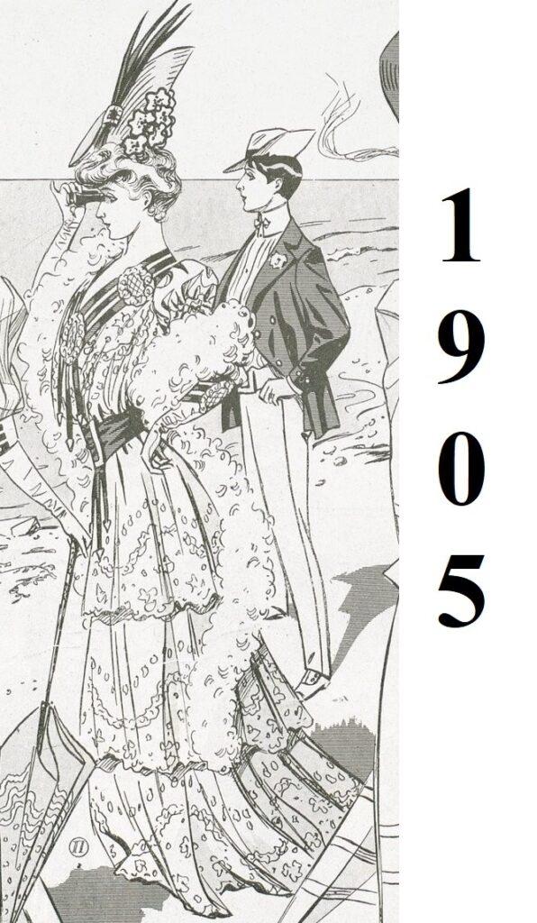 1905 modny mężczyzna