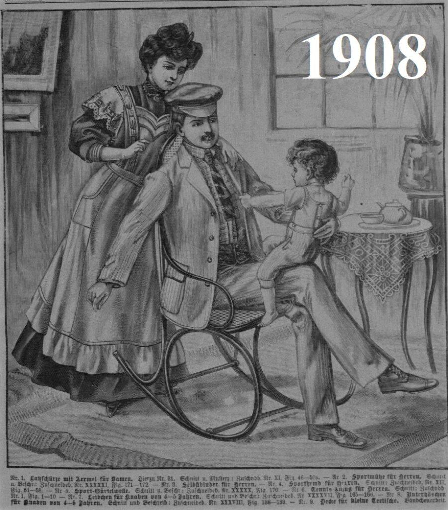 1908 modna rodzina