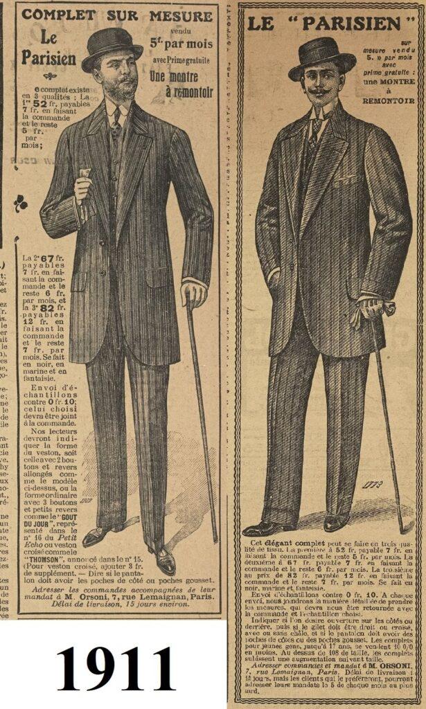 1911 modni mężczyźni