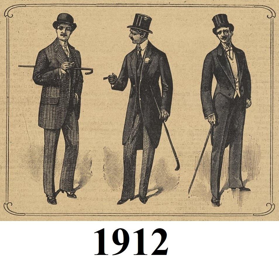 1912 fashionable men