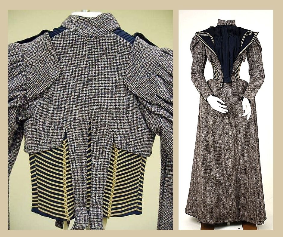 1890s suknia spacerowa