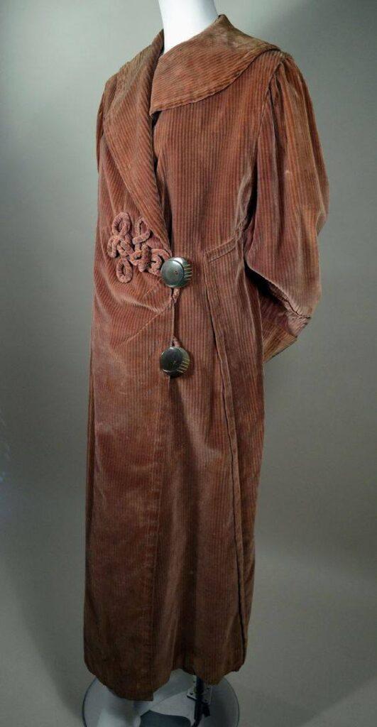 Lata 1910. sztruksowy płaszcz edwardiański
