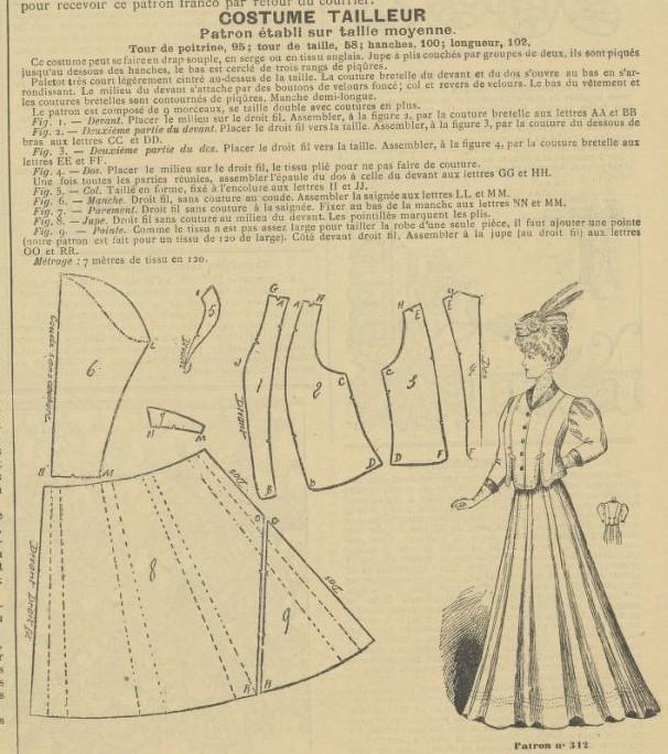 1906 żakiet ze spódnicą