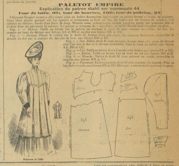 1906 płaszcz z karczkiem