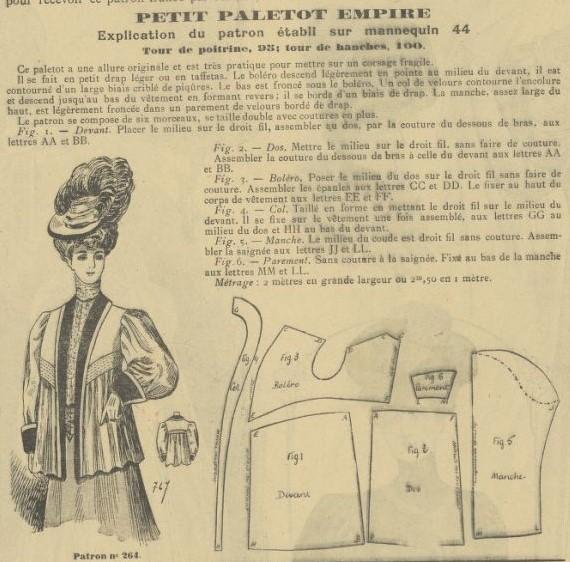 """1906 płaszczyk """"empire"""""""