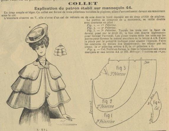 1906 trójwarstwowa peleryna