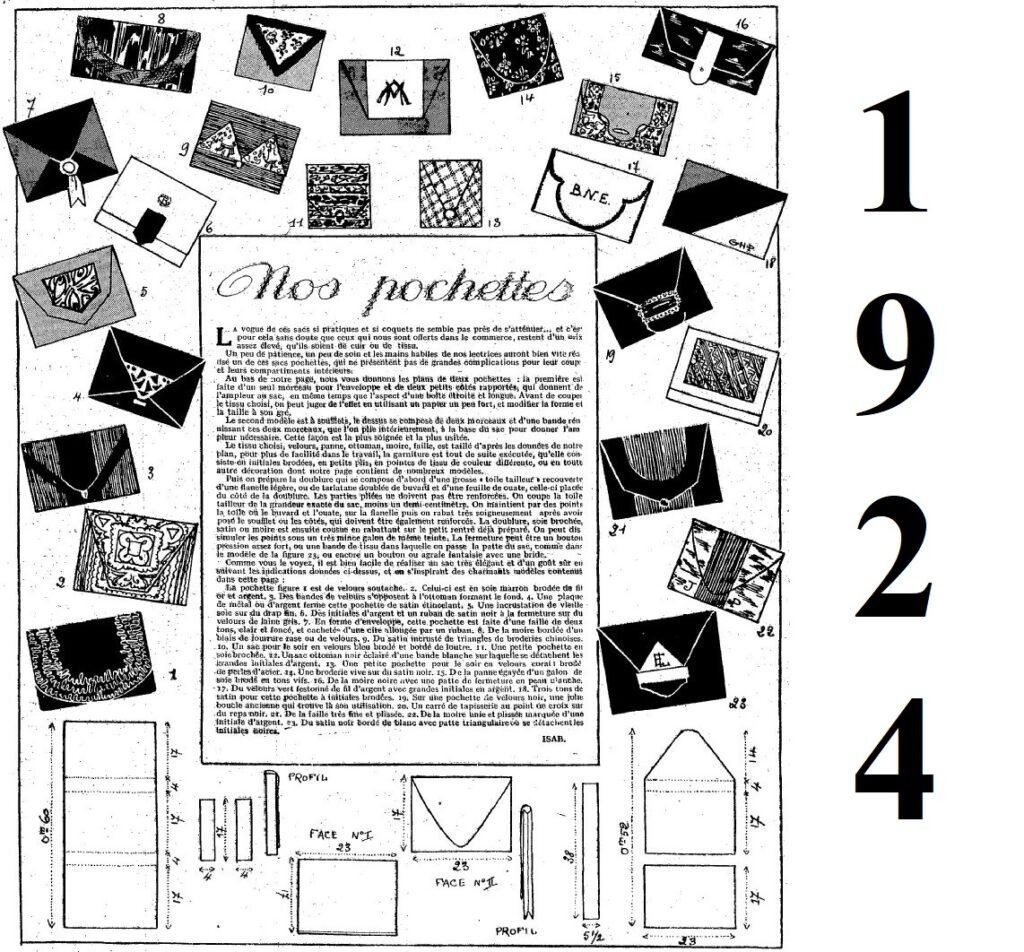 1924 DIY Art Deco bag