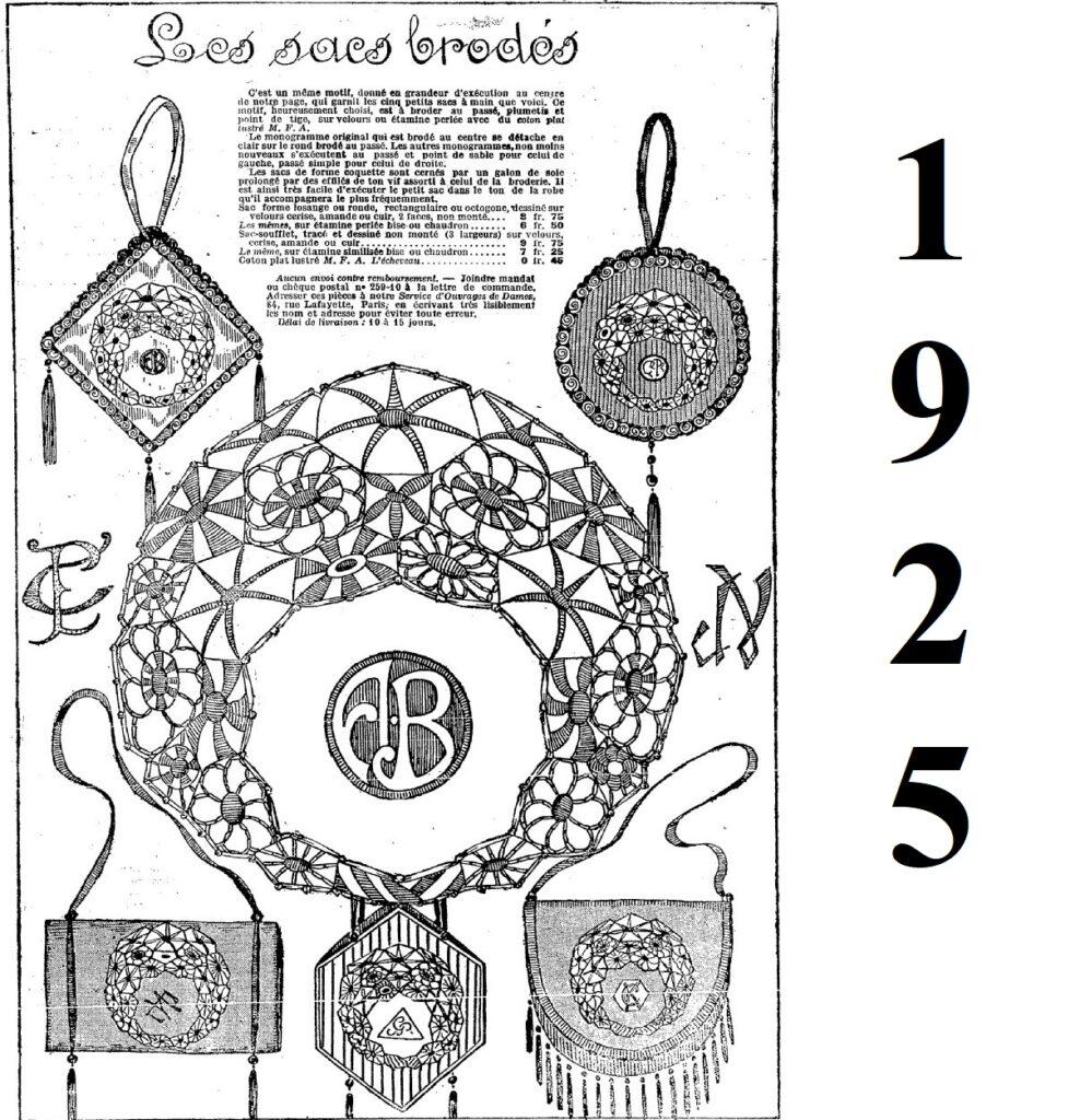 1925 haftowane torebki