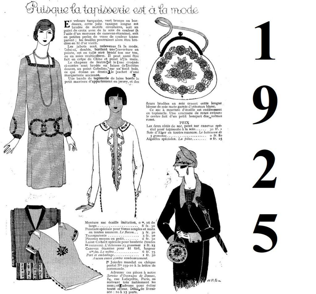 1925 wyszywana torebka