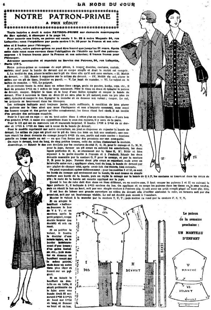 1926 dress pattern