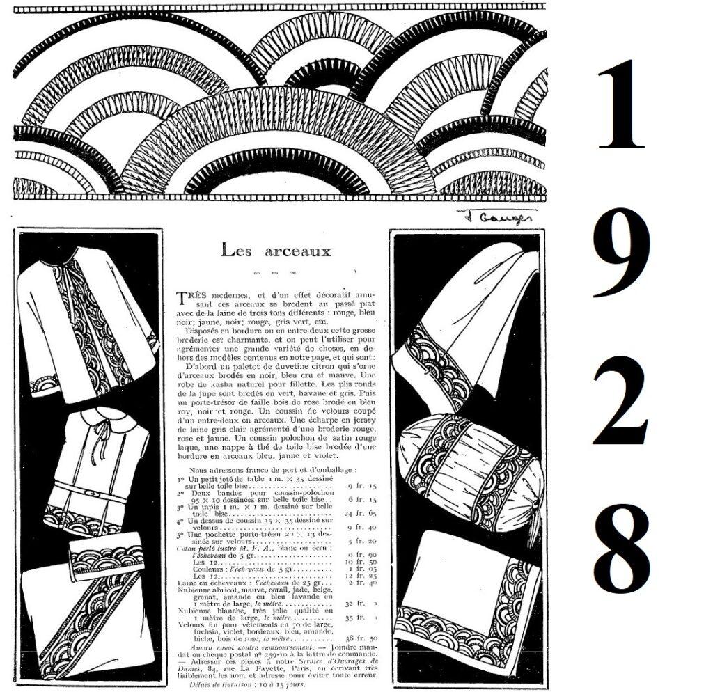 1928 haftowana torebka