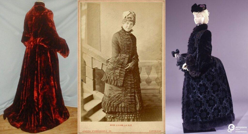 Długie dolmany z lat 1880s, obiekty muzealne