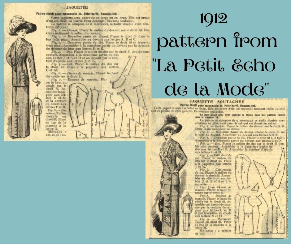 1912 edwardian jacket with diagram