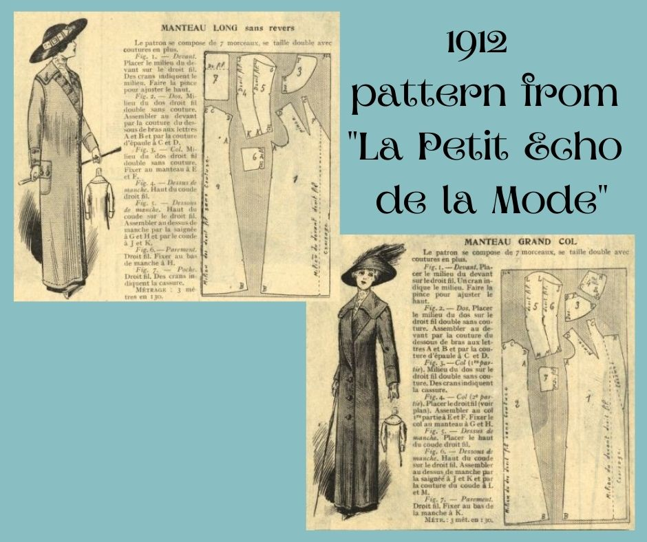 1912 edwardian coat with pattern